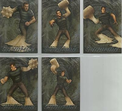"Spider-man 3 - ""The Sandman"" Set of 5 Chase Cards #S1-5"