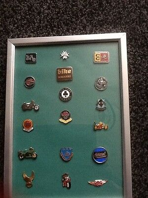 Motorcycle Badges In A Frame