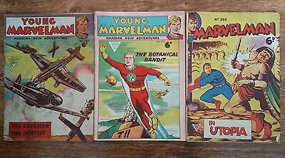 Young Marvelman by L Miller Publications # 289, 319 and 358