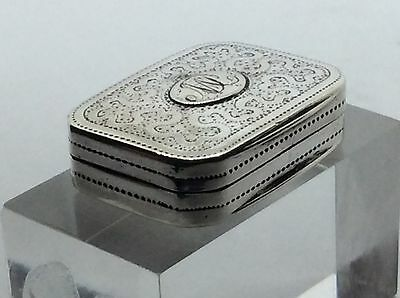 Superb Georgian 1816 Solid silver Wriggle Work Matthew Linwood Vinaigrette Box