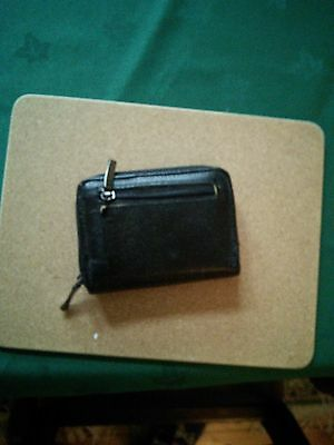Black purse and card holder
