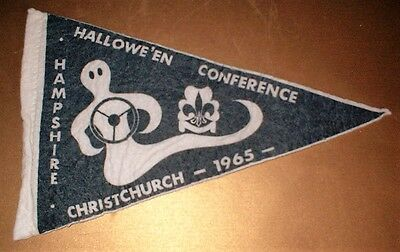 VINTAGE 1965 CHRISTCHURCH HAMPSHIRE CUBS SCOUTS CLOTH PENNANT - Collectable