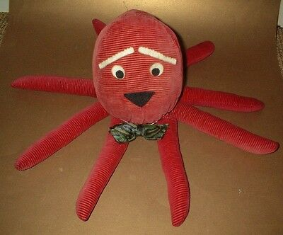 1970's HOMEMADE SOFT TOY OCTOPUS - Collectable retro funky kitsch cuddly toy
