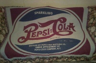 * * Pepsi Cola Huge Blanket Label Advertisement * *