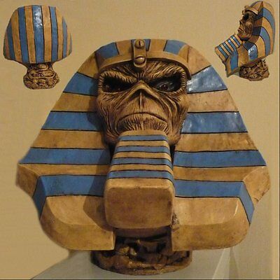 IRON MAIDEN Powerslave Eddie Pharaoh STATUE BUST BIG HEAD SCULPTURE CD LP