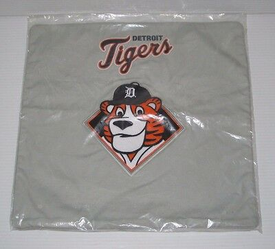 "NEW Pottery Barn Kids MLB DETROIT TIGERS BASEBALL Team Pillow Sham 16"" TEEN Gray"
