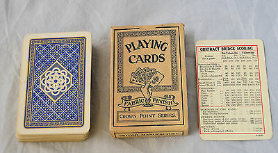 One Pack of Vintage Crown Point, Fabric Finish Playing Cards