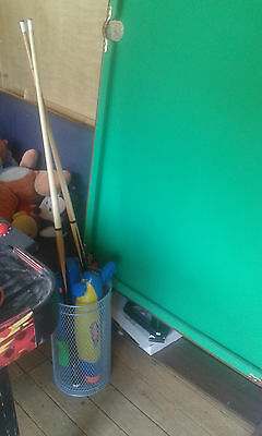 Never Used Snooker Table With 2 Cues and Balls