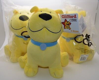 3 CLIFFORD Big Red Dog Kohl's Cares For Kid Stuffed Animal Plush Toy T-BONE NEW