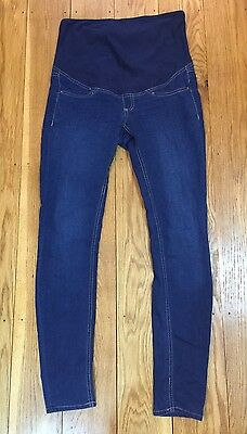 """Mama H&M Maternity Size 10 Blue Skinny Jeans Over The Bump Leg 30"""""""
