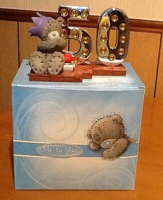Me To You Figurine - Light Up At 50 - New And Boxed