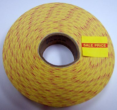"Monarch Yellow Sale Price Labels 25/32"" X 21/32"" Roll Paxar"