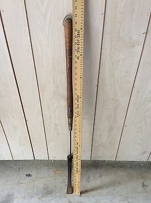 Antique Vintage Weed Grass Cutter Edger Sickle Scythe With Wood Handle ~ 42""