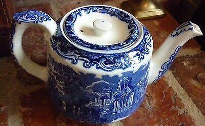 George Jones 'ABBEY' Teapot. Blue 7790