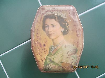 Vintage Collectable Coronation Souvenir Tin - 1953