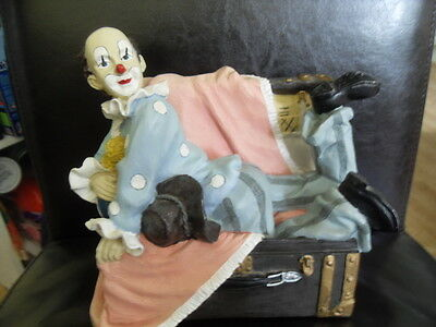 Circus Comes to Town - Clown in a Trunk by Regency Fine Arts. Size 8x8x6 inches
