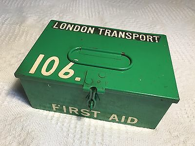 Super Vintage London Transport St John Ambulance First Aid Tin
