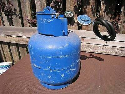 Calor Gas 4.5kg Butane gas cylinder with regulator, gauge and hose. Nearly Full.