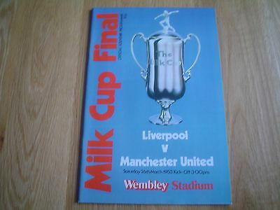 Liverpool  V  Manchester United  1983    L.cup Final