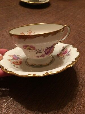 Rosenthal Tea Cup & Saucer #673 Pompadour  Selb Germany