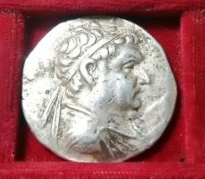 Greek KINGS of BAKTRIA. Heliokles I. 145-130 BC. Zeus AR Tetradrachm