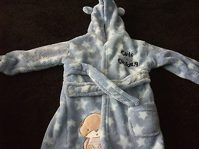 lovely baby boys dressing gown