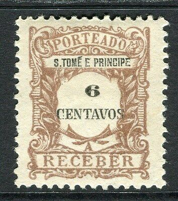 PORTUGUESE COLONIES ST.THOMAS E. PRINCE 1900s early P. Due Mint hinged 6c.
