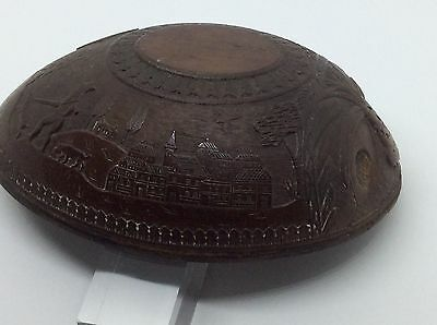 Superb c1820 Carved Georgian Hunting Scene Coconut Cup