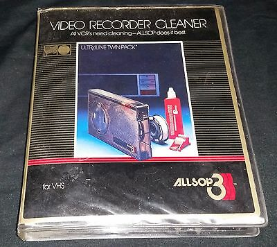 Vintage Allsop 3 Video Recorder Cleaner for VHS with Replacement Kit