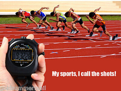 PC894 Handheld Electronic Stop Watch Digital LCD Timer Sports Stopwatch Alarm