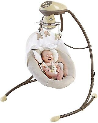 FISHER PRICE CRADLE 'N SWING My Little Snugapuppy Infant Baby Sleep Play Music+