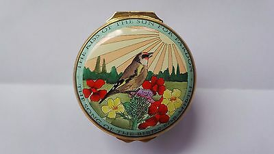 """Halcyon Days Enamel Box ~ """"The Kiss Of The Sun For Pardon..The Song Of The Bird"""""""