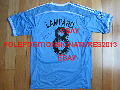Frank Lampard Signed 2015 New York City FC Adidas Soccer Jersey MLS Chelsea