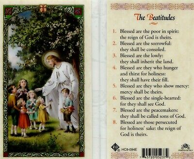 The Beatitudes From Jesus Laminated Prayer Card Blessed Are They HC9-094E