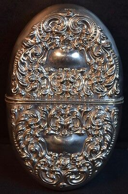 Sterling Silver Embossed (Repousse) Pocket Flask