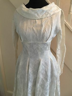 Vintage 1950s Wedding Dress-Small-Ivory-Mandell London