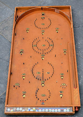 Antique Wooden Pin Ball Bagatelle Game