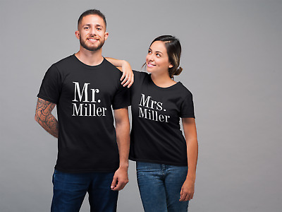 MR And MRS Personalised Tshirts - Wedding Gift/Anniversary/Engagement Soon To Be