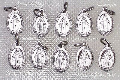 10x Religious Miraculous Medal Icon LOT Catholic MARY Our Lady St Labouré 1830