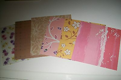 6 Scrapbooking Paper/cardboard (Scp45)  Circa 6X6 Inch  New New Other Side White