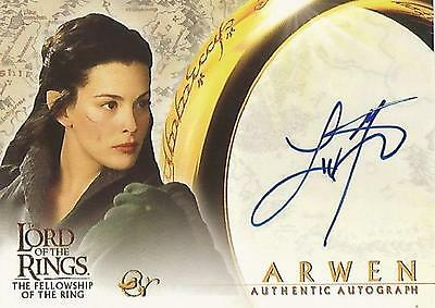 """Lord of the Rings Fellowship FOTR - Liv Tyler """"Arwen"""" Autograph Card"""
