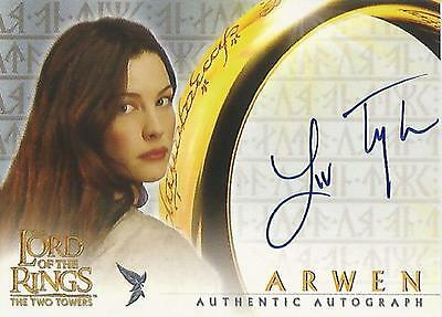 """Lord of the Rings The Two Towers TTT - Liv Tyler """"Arwen"""" Autograph Card"""