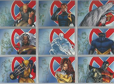 """X-Men Archives - """"Legendary Heroes"""" Set of 9 Chase Cards #LH1-9"""