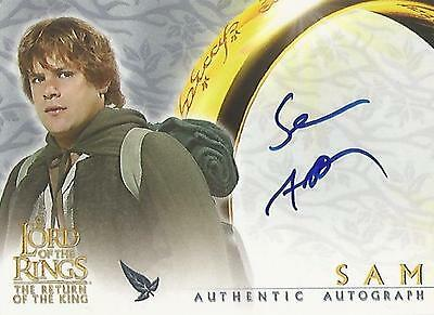 """Lord of the Rings Return of the King ROTK: Sean Astin """"Sam"""" Autograph Card"""