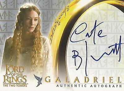 """Lord of the Rings The Two Towers TTT - Cate Blanchett """"Galadriel"""" Autograph Card"""