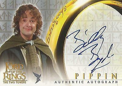 """Lord of the Rings The Two Towers TTT - Billy Boyd """"Pippin"""" Autograph Card"""