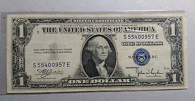 $1 USA 1935 C SERIES # S 55400957 E S/Number No motto CIRCULATED