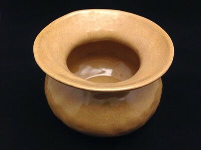 Bybee Pottery Tan/Brown Spittoon
