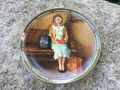 Norman Rockwell Collector Plate A Young Girls Dream Vintage Knowles 1985