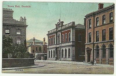 Ireland Co Louth  postcard Dundalk Town Hall